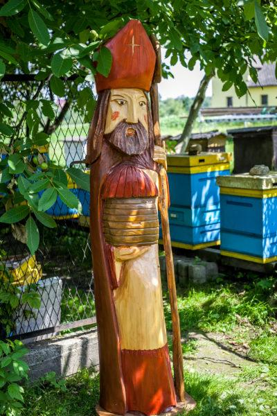 świety ambrozy patron pszczelarzy, wizyta w pasiece